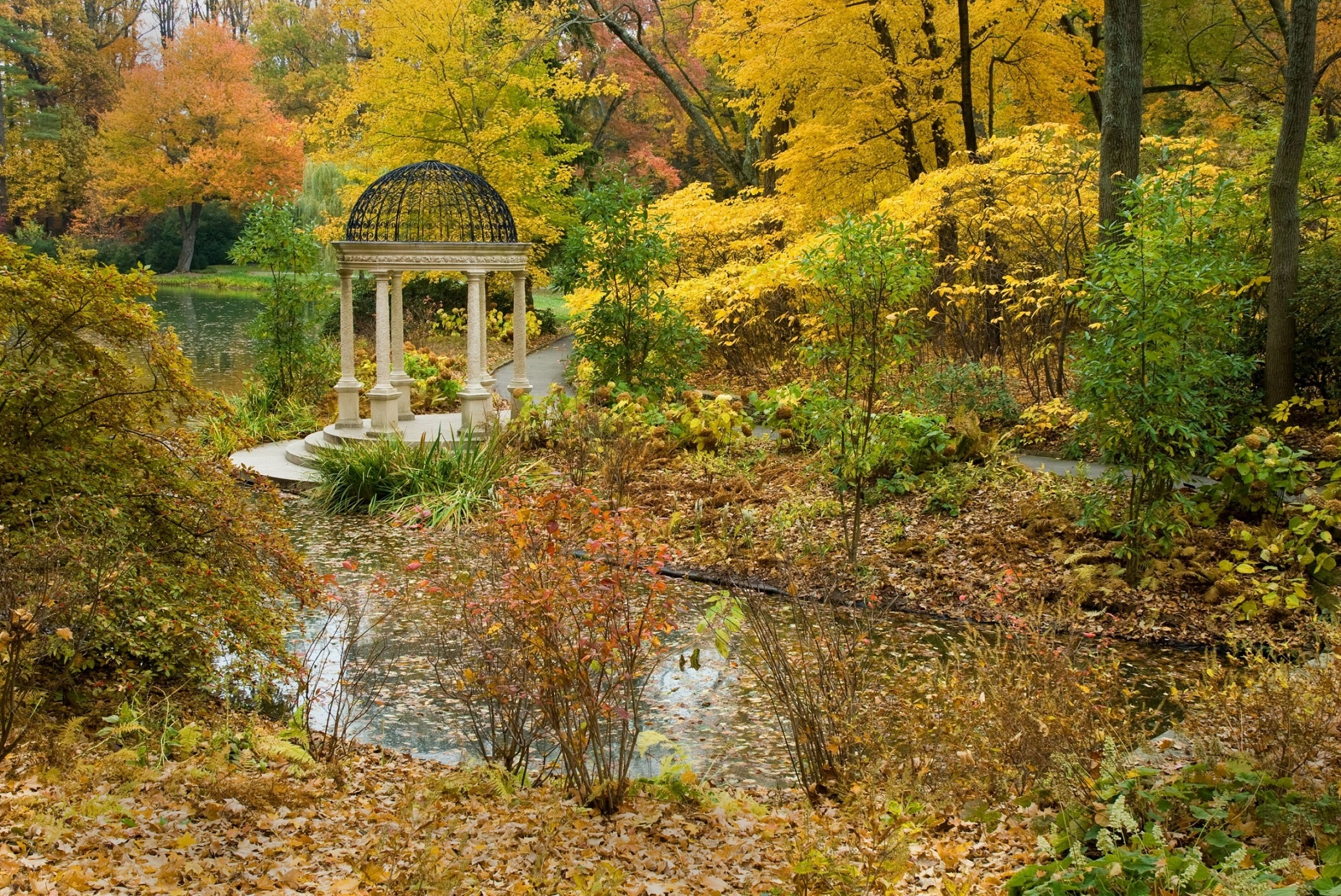 Brandy Wine River - Autumn Colors Longwood Garden-3