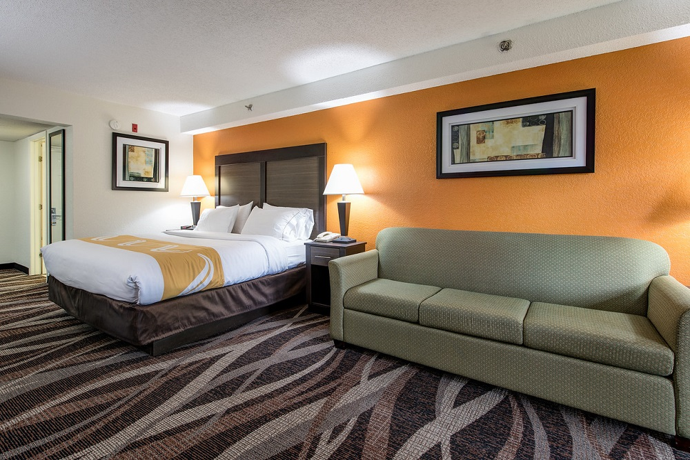 Quality Inn Creekside - King Suite Bed Room-3