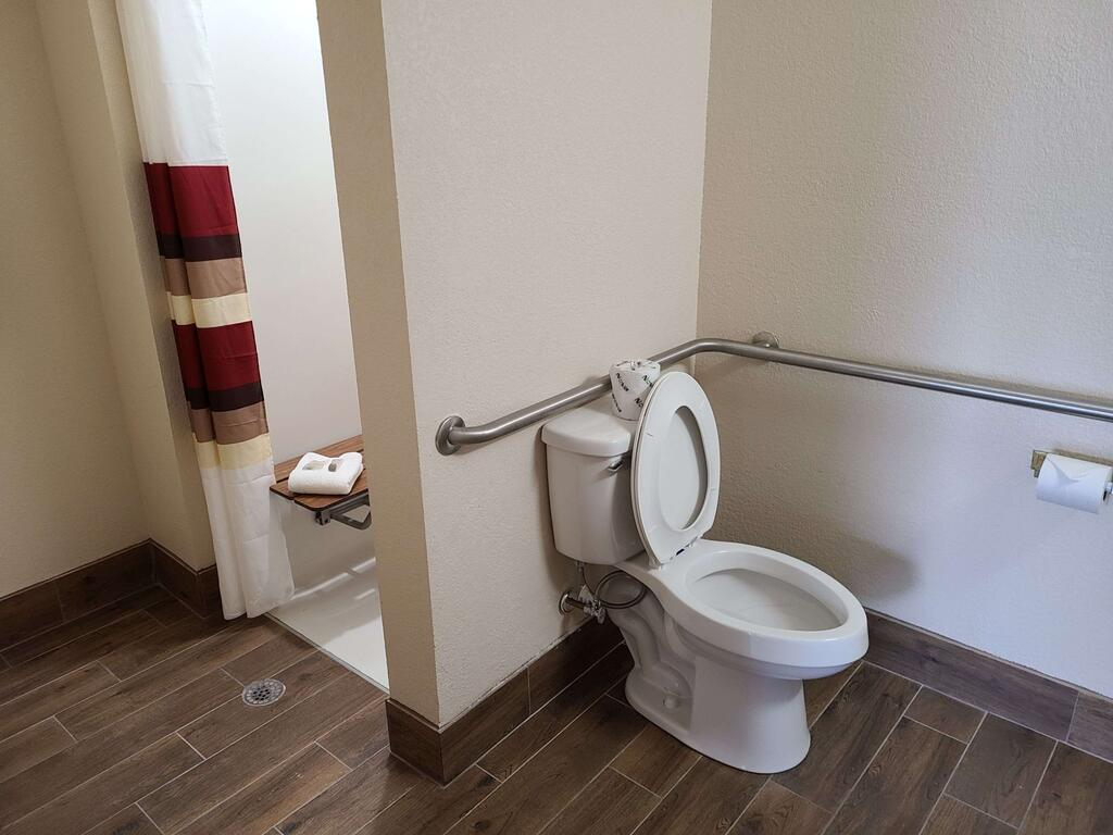 Red Roof Inn Staunton -Room Bathroom